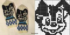 Velkommen til Telenor E-post Knitting Charts, Baby Knitting Patterns, Knitting Stitches, Knitting Designs, Knitted Mittens Pattern, Knit Mittens, Knitting Socks, Pixel Pattern, Dog Pattern