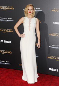 Jennifer Lawrence Los Juegos Del Hambre Sinsajo 2 Los Angeles Dior Couture 2
