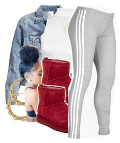 """8:41"" by lookatimani ❤ liked on Polyvore featuring H&M, WearAll, UGG Australia, adidas and Nephora"