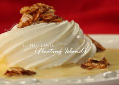Leave it to the french to come up with an elegant dessert that is worthy to be on any fancy restaurant menu and simple enough for homemakers. For the Ile Flottante, or Floating Island, the crème an… Elegant Desserts, French Desserts, Floating Island Dessert, Meringue Desserts, Recipe Link, Menu Restaurant, Pavlova, Meals For Two, Sweet Tooth