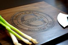 Personalized Cutting Board Custom Engraved by TaylorCraftsEngraved. This is truly a great gift idea!