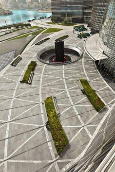 Paisajismo en los alrededores del Burj Khalifa | Plataforma Arquitectura #urbanlandscapearchitecture
