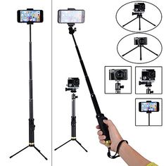 Professional Selfie Stick with Bluetooth Remote and Tripod Stand for Apple Android Gopro & Digital Cameras