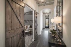 Highland Homes plan 200 Model Home in Houston Texas, Long Meadow Farms 50s community #entryway