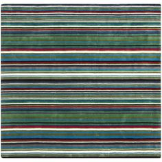 @Overstock.com - A modern design and dense, thick pile highlight this handmade rug. This floor rug has a green rainbow background and displays stunning panel colors of green, blue, ivory, red, and grey.http://www.overstock.com/Home-Garden/Handmade-Rodeo-Drive-Green-Rainbow-Stripe-Rug-8-Square/7153776/product.html?CID=214117 $354.99