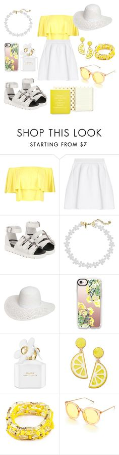 """Untitled #476"" by lexikth ❤ liked on Polyvore featuring Boohoo, malo, Vanessa Mooney, Dorothy Perkins, Casetify, Marc Jacobs, Celebrate Shop, Riah Fashion and Kate Spade"