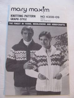 Mary Maxim Number Unisex Ski Cardigan, Graph Style Knitting Pattern, Sizes 38 to 44 Inch Chest by OnceUponAnHeirloom on Etsy Baby Knitting Patterns, Skiing, Needlework, Thankful, Mary, Babies, Etsy Shop, Number, Unisex