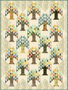 Tree Farm Quilt Pattern by Edyta Sitar – Laundry Basket Quilts – - Modern Farm Quilt Patterns, Tree Quilt Pattern, Block Patterns, Todays Quilter, Traditional Quilt Patterns, Laundry Basket Quilts, Laundry Baskets, Quilts Online, Half Square Triangle Quilts