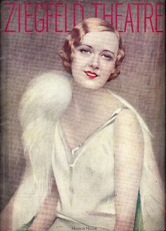 Marilyn Miller on the 1928 program cover for Broadway production of Show Boat, at the Ziegfeld Theatre