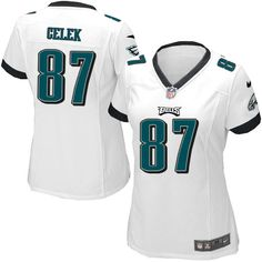 Women's Nike Philadelphia Eagles #87 Brent Celek Limited White Jersey