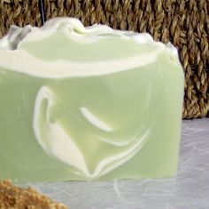 Organic Lime Shea Butter Vegan Soap with Organic Cocoa Butter and Coconut Milk.