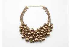 Antique Gold Multi-Layer Bauble Necklace. Oliphant. $98.
