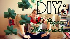DIY 3D Paper Shamrocks