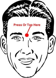 You can press or tap this point.Sinus pressure points