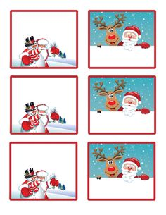 8 Best Images of Christmas Gift Tags Printable Templates - Printable Christmas Gift Tags Templates, Free Printable Christmas Gift Tags Templates and Free Printable Christmas Gift Tags Templates Christmas Name Tags, Free Printable Christmas Gift Tags, Noel Christmas, Christmas Crafts, Free Letters From Santa, Santa Letter, Theme Noel, Printable Letters, Printable Labels