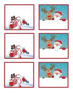 Planche bonhomme, renne et Père Noël.