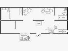 Frugal Freedom: I Dream Of A Shipping Container House Small Shipping Containers, Prefab Shipping Container Homes, Shipping Container House Plans, Storage Container Homes, Container House Design, Tiny House Design, Container Houses, Tiny House Plans, House Floor Plans
