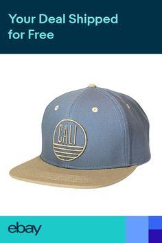 Cali Circle Design Snapback Hat California Republic Flat Bill Baseball Cap  OSFM 00377b3327c8