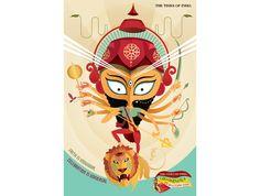 2011 Durga Pooja and Dusshera Festivals Times Of India, Durga, Photoshoot Ideas, Festivals, Creative, Tumblr, Ads, Illustrations, Indian