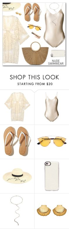 """Без названия #1947"" by nastenkakot ❤ liked on Polyvore featuring Oséree, Hollister Co., Christian Dior, Karl Lagerfeld, Casetify, Eddie Borgo, Astley Clarke and tarte"