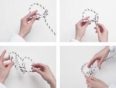 How to ; DIY rope hoop earrings