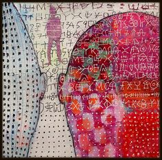 """Game over"" Elke Trittel acrylic on paper 25x25cm"