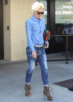 """Gwen Stefani Brings New Meaning to """"Business"""" Attire 