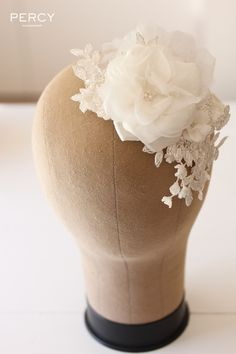The Lily floral headpiece is such a precious piece - one of my faves xx Fascinators, Bridal Headpieces, Wedding Looks, Dream Wedding, Making Fabric Flowers, Floral Headpiece, Queen, Hair Ornaments, Wedding Veils