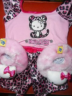 HELLO KITTY BUILD A BEAR OUTFIT INCLUDING SLIPPERS