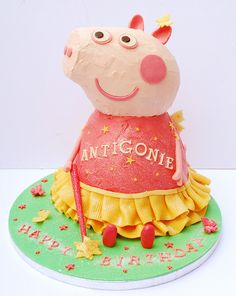 Peppa Pig Cake by Love to Cake Pig Birthday Cakes, 2nd Birthday, Fondant, Pastel Cakes, Pig Party, Specialty Cakes, Creative Cakes, Let Them Eat Cake, No Bake Cake