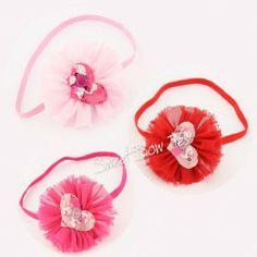 Chiffon Flower with Heart Center