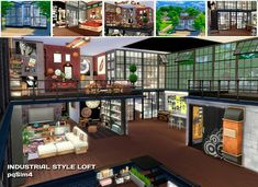 Sims 4. Industrial Style Loft. - pqSim4