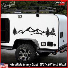 Mountain Decal vinyl Camper RV sticker Toy hauler Trailer