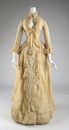 Dress, B. Altman & Co. (American, 1865–1990), French, 1883 via metmuseum.org