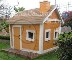 Fotos de Casitas de madera para niños Daycare Design, House In The Woods, Play Houses, Shed, Mexico, Outdoor Structures, Patio, Kids, Google