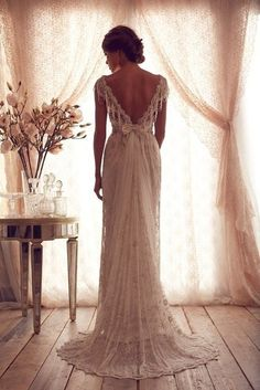 back of the perfect wedding dress