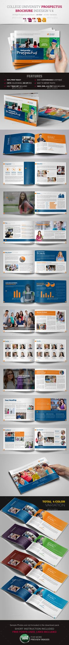 College University Prospectus Brochure V1 | Ai Illustrator