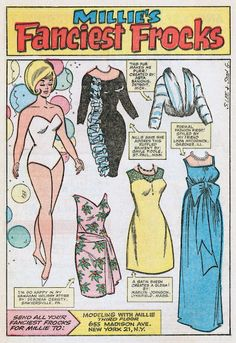I LOVED the Millie the Model comic books, just for the paper dolls!   : )