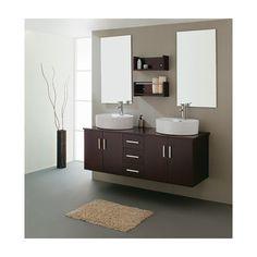 "Savannah 59"" Double Sink Vanity Set in Espresso"