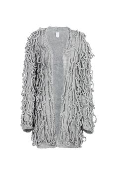 Anna Dudzińska, CONCRETE GREEN, aw2015, sweater FRINGE (grey). To download high or low resolution product images view Mondrianista.com (editorial use only).