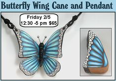 pretty cane, sweet pendant