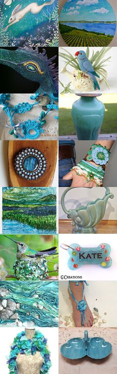 Magical Finds In Blue and Green by Cameron Zimpelman on Etsy--Pinned with TreasuryPin.com