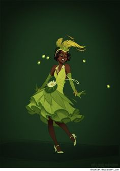 Tiana from Disney's Princess and the Frog in Historical dress - Clair Hummel