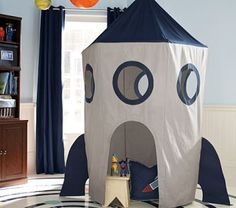 Rocket Tent Canopy -- Pottery Barn inspiration for Paul's birthday present.