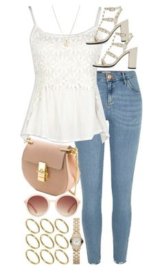 """""""Look #570"""" by foreverdreamt ❤ liked on Polyvore featuring River Island, Valentino, Chloé, ASOS, Forever 21, Laura Lee and Marc by Marc Jacobs"""