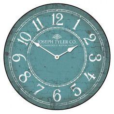 Aqua & White Clock | The Big Clock Store