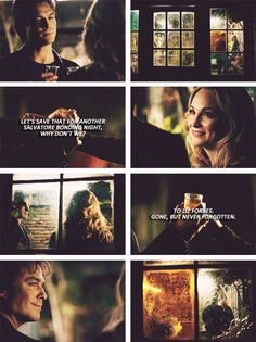 damon and caroline! he called her a salvatore :') Bonnie Bennett, Vampires And Werewolves, Push Away, Bad Influence, New Friendship, Caroline Forbes, Stefan Salvatore, Good And Evil, Be A Nice Human
