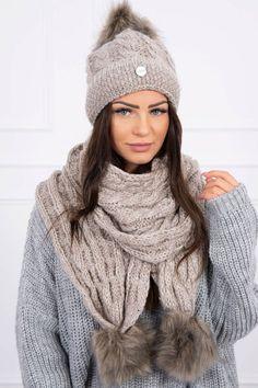 Moderná čiapka a šál, komplet na zimu Winter, Fashion, Moda, Fasion, Trendy Fashion, La Mode