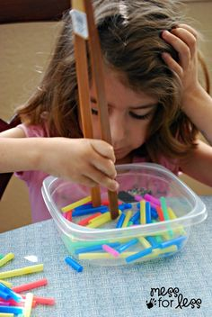 Fine Motor Practice with Straws - Get Ready for K Through Play | Mess For Less