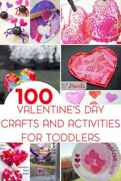 If you are in need of a craft or activity for Valentine's Day be sure to check out this post packed with 100+ ideas for your toddler or preschooler!